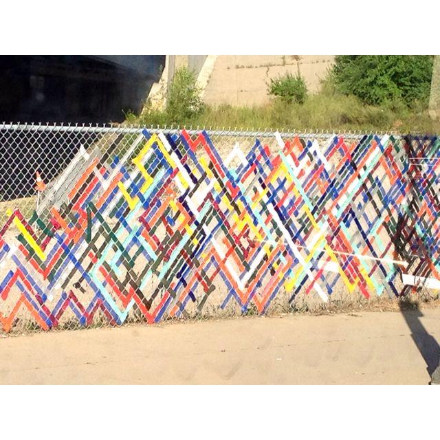 Fence Art In Cincinnati Abstract Art Pinterest Fence