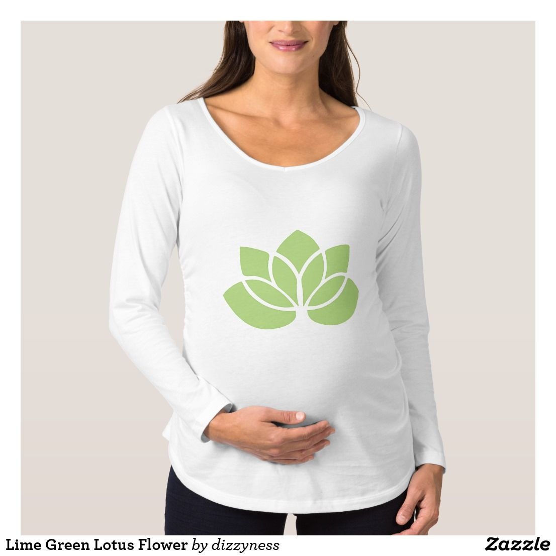 Lime green lotus flower t shirt izmirmasajfo Images