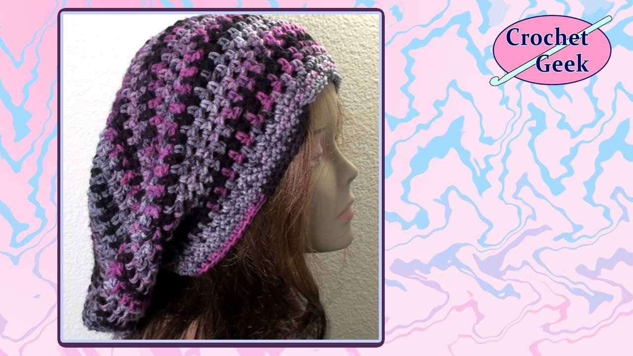 How to make Bob Marley Crochet Slouch Cap - Free Video Tutorial from ...