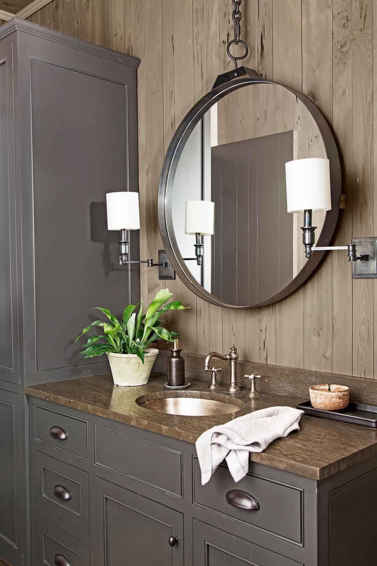 47 Rustic Bathrooms That Will Inspire Your Next Makeover Rustic Bathroom Decor Rustic Bathroom Wall Decor Modern Bathroom Decor