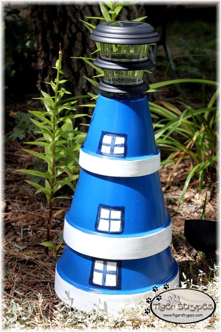 Transform Planters into a Lighthouse #TigerStrypesBlog ... on amish christmas decor, amish gardening tips, amish well covers, amish hutch plans, amish toys, amish duck houses, amish gifts, amish hay equipment, amish tractors, amish wooden garages, amish stoneware, amish fence posts, amish animals, amish plates, amish dinnerware, amish garage plans, amish tools, amish garden wagon, amish telephone booths,