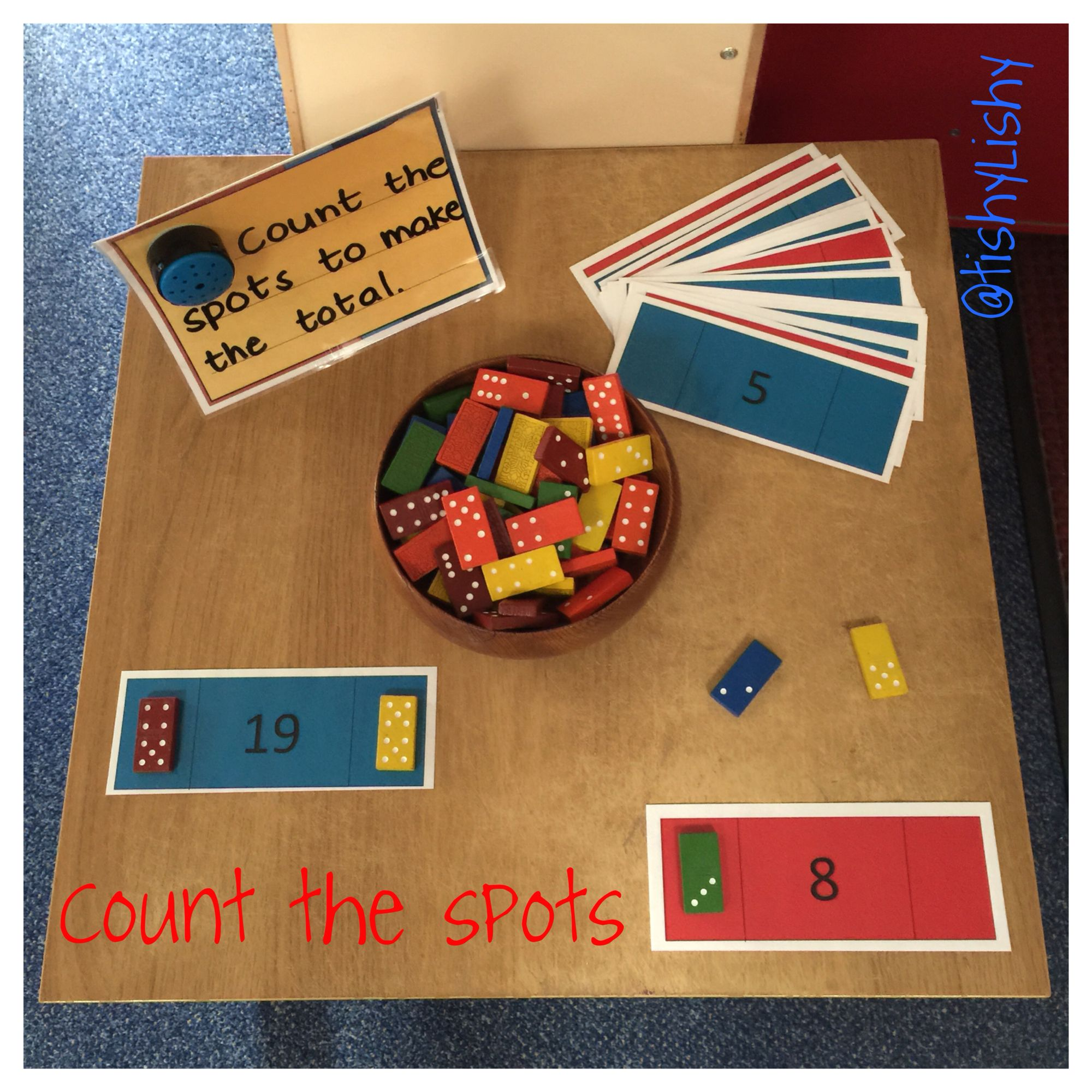 Quirky Classroom Ideas : Maths challenge task count the spots to make total