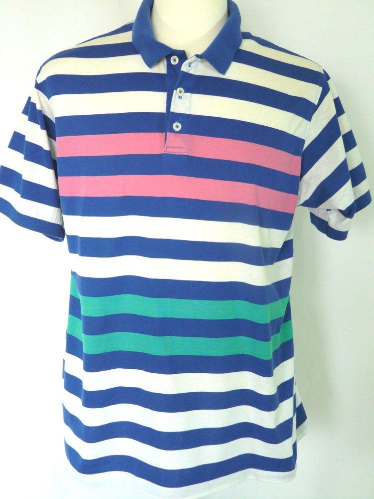 54a5e5d8ecb Vintage Gant Rugger Polo Shirt USA Short Sleeve Cotton Striped Size XL #Gant  #PoloRugby