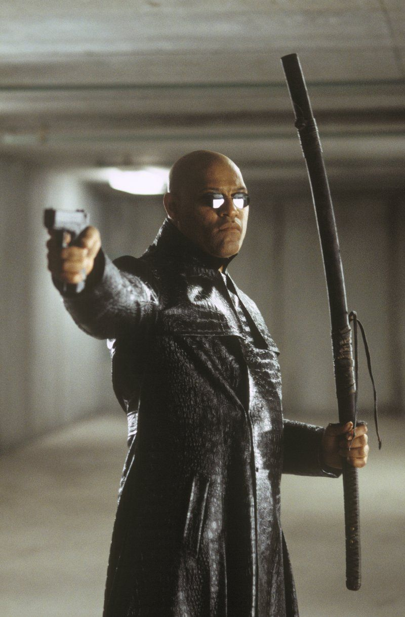 Laurence Fishburne As Morpheus In The Matrix Reloaded Movie Neo Trinity My Amplifier