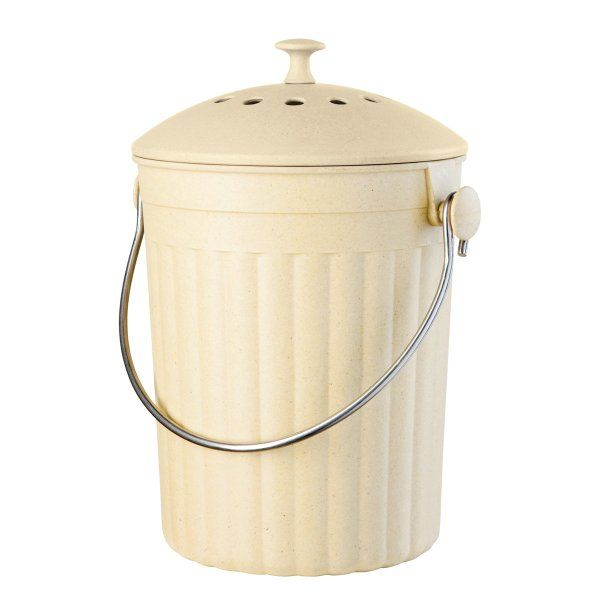 Oggi Countertop Compost Pail With Charcoal Filter Made From