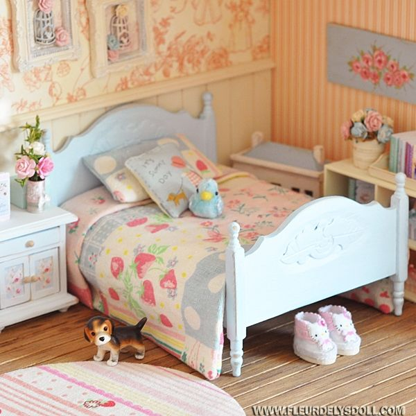 Pin by anneliese on bjd rooms how to make bed bedding - Bed made of balls ...