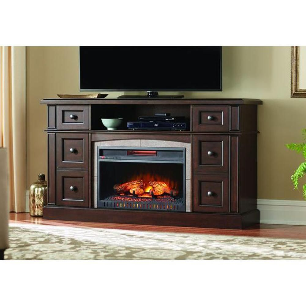 Fireplace Tv Stand Home Depot Home Decorators Collection Bellevue Park 59 In Media Console