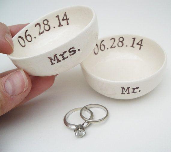 Mr And Mrs Wedding Ring Dish Bridal Shower Gift Idea Wedding Gift