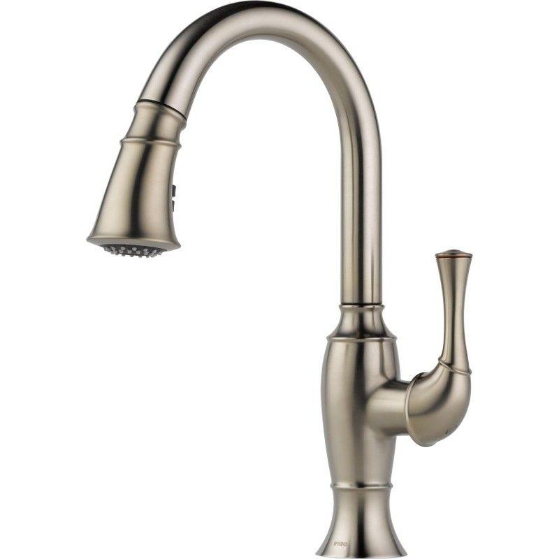 handle pull down kitchen faucet discount price kolani delta savile ...