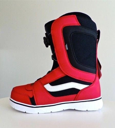 c8075903539 VANS ENCORE Snowboard Boots Size 11.5 Mens BOA Retail  199.00 Red Black (11)