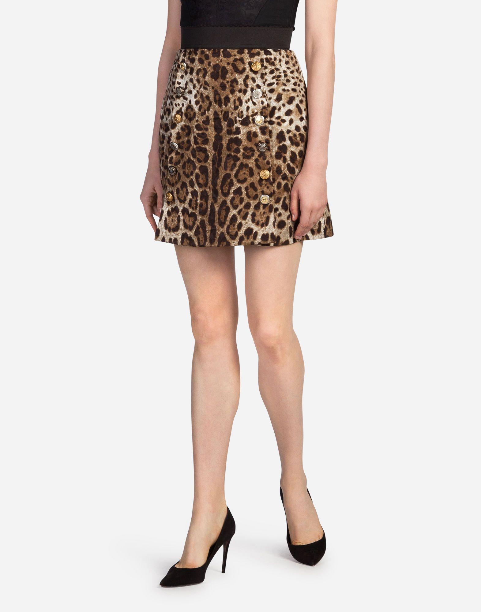 0f111e8dc9e1 DOLCE & GABBANA Leopard Print Brocade Skirt. #dolcegabbana #bags #rayon  #polyester #cotton #