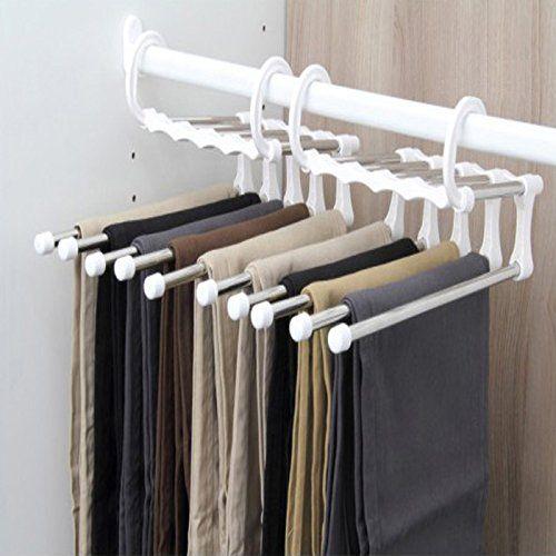 Multi-function S-type Tie Trouser Rack Closet Clothes Storage Hanger Rack Tool