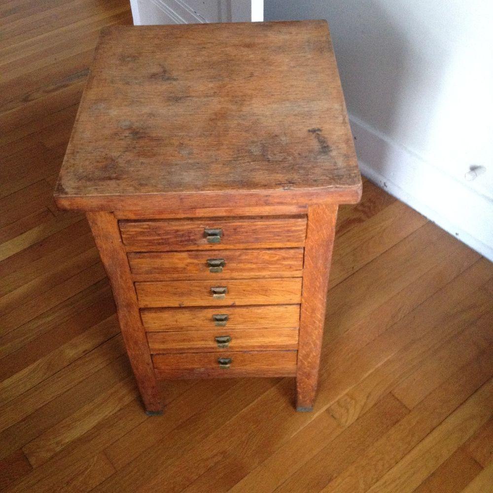 Antique artscrafts industrial 6 drawer print makers type