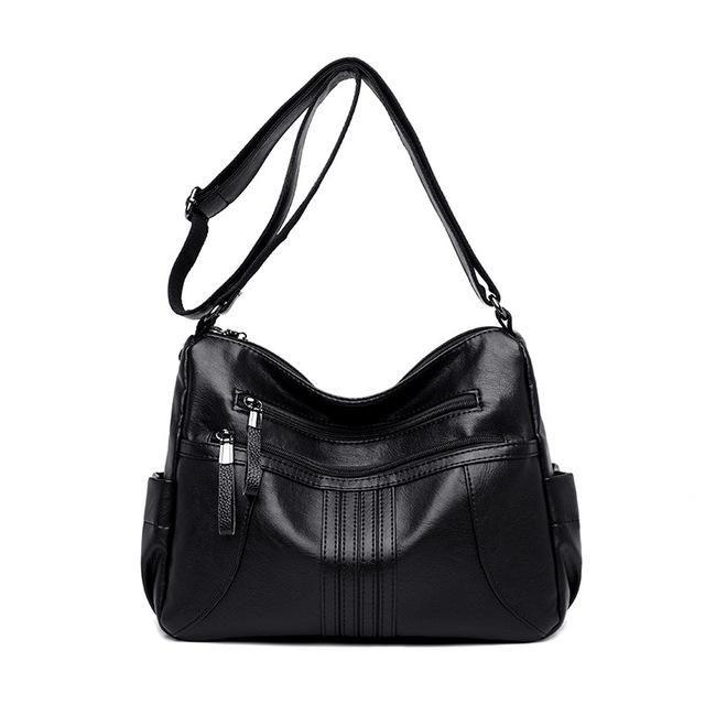 Photo of 2019 Women Shoulder Bag Luxury Soft Leather Large Bag Female Messenger Bags Big For Ladies Handbag Designer Brand bolsa feminina – BLACK China