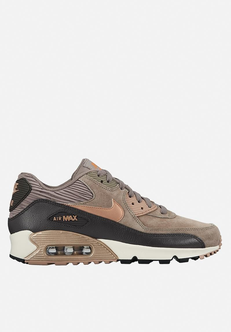 nike womens air max 90 beige canvas/brown leather