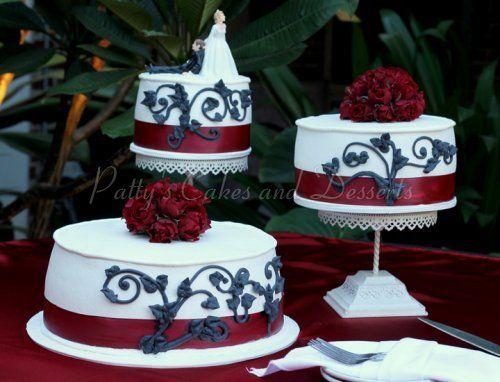 Stunning Red Black White Wedding Cakes Photos - Styles & Ideas 2018 ...