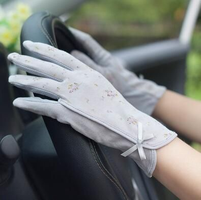 Vintage Roses & Lace Cotton Anti-UV Slip-resistant Wrist Length Driving Gloves (22 Styles) #gloves