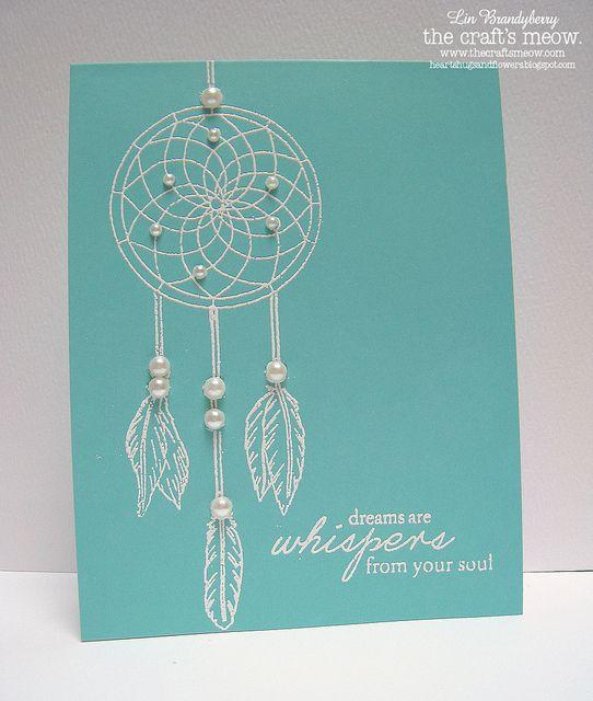 White Dreamcatcher Card Set