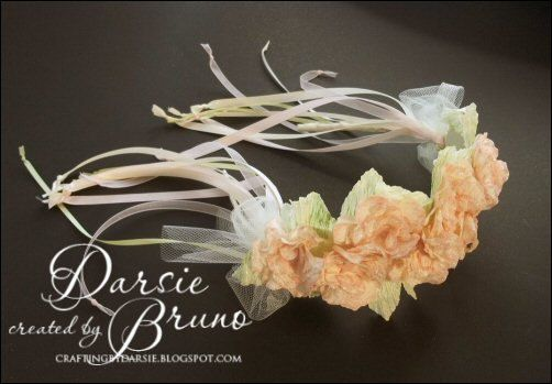 Flower Girl Floral Wedding Headband  by CraftingwithDarsie on Etsy, $25.00