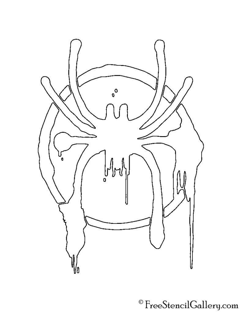 Spiderman Miles Morales Symbol Stencil Free Stencil Gallery Miles Spiderman Miles Morales Spiderman Spiderman Drawing