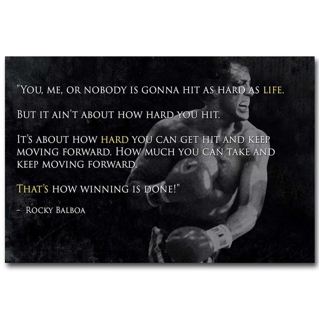 Rocky Balboa Life Is Hard Quote: Like And Share If You Want This ROCKY BALBOA