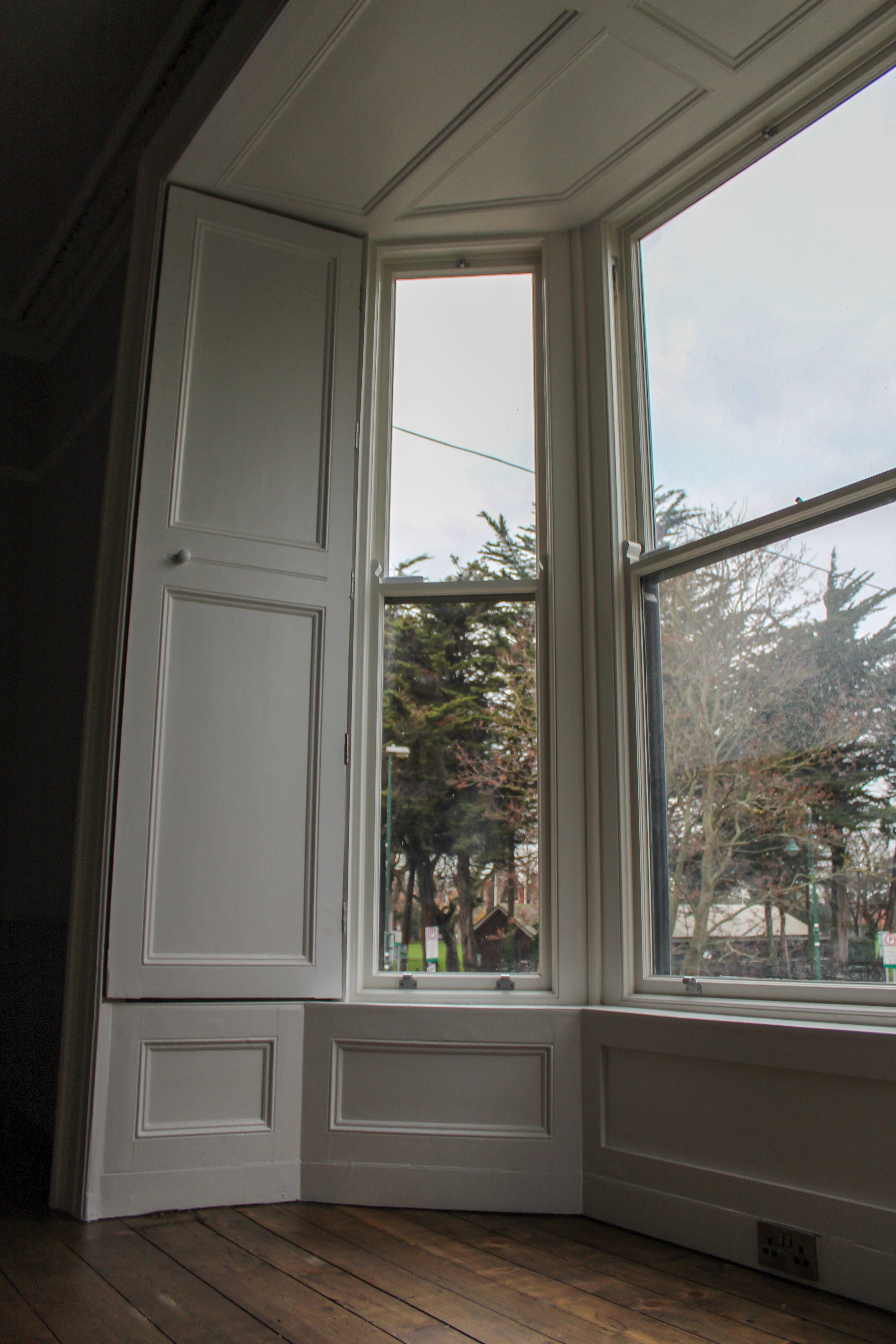 Bay Windows Shutters Bay Window Living Room Bay Window Window Design
