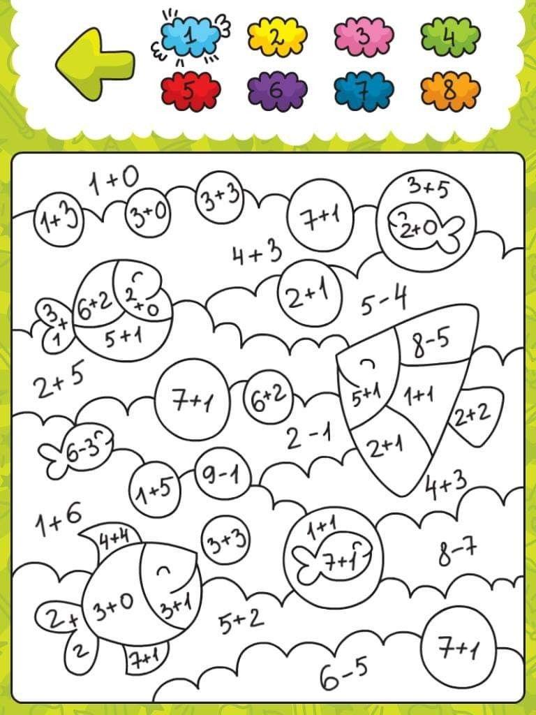 Pin By Alegasz On Kolorowanki Matematyczne Kindergarten Math Worksheets Preschool Math Math For Kids