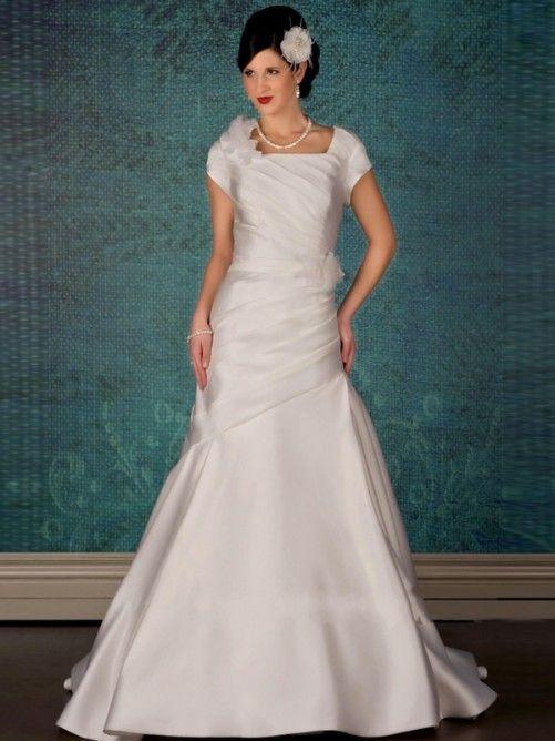 Pin by Alissa on Modest Wedding Gowns VII | Pinterest | Modest ...