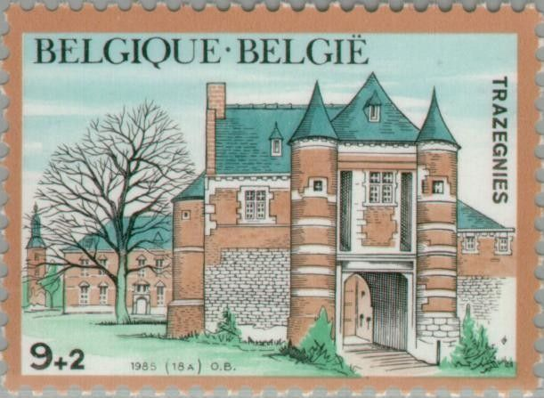 Sello Castles Trazegnies (Bélgica) (Castles) MiBE 2245