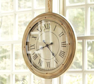 White Station Clock At Pottery Barn Home Mantel Clocks