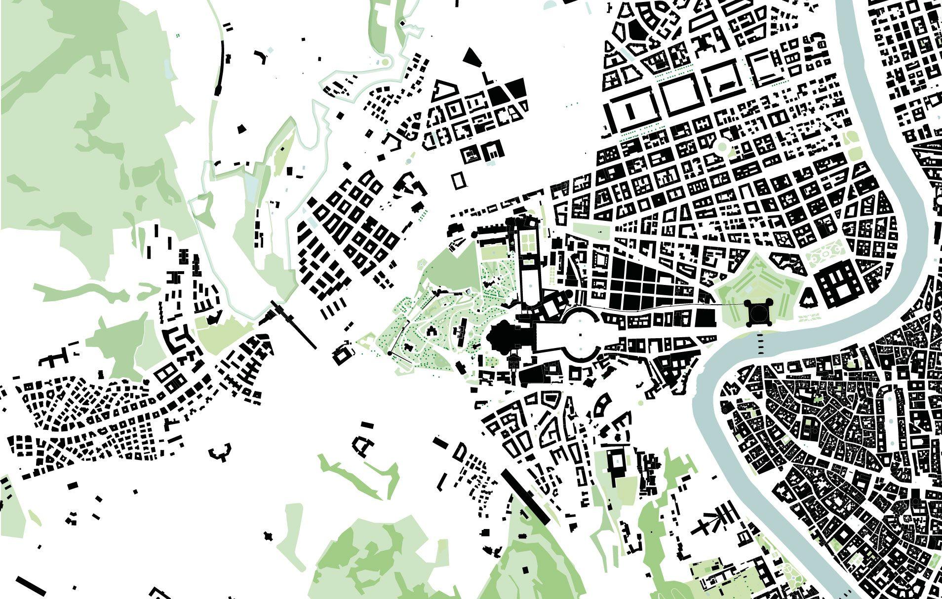 Vatican City green map 110000 architecture presentationmodel