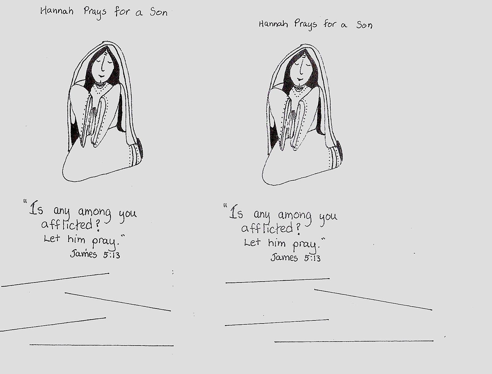 Hannah Prays Worksheet