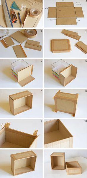 Como Fazer Uma Caixinha De Papelão Decorada Reciclagem No Meio