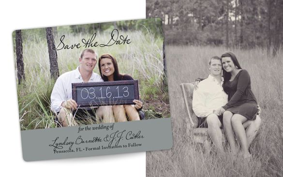 Cute Save the Date magnet with chalkboard sign