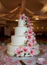 Hibiscus Wedding Cake Small Pic Couldnt Find Larger Wedding Cake