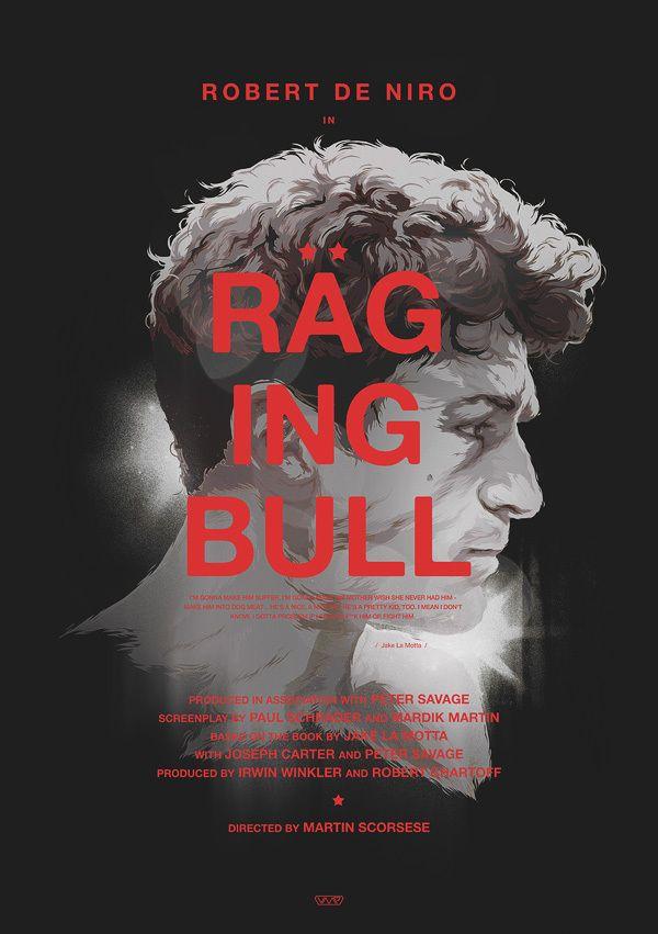 Raging Bull poster by Grzegorz Domaradzki