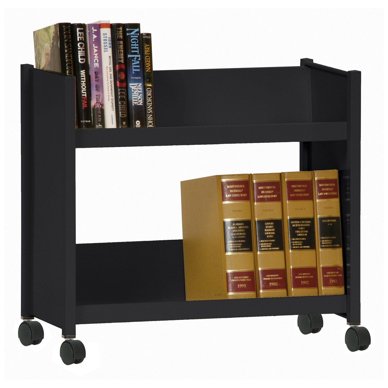 Have To Have It Sandusky Lee Sloped Shelf 2 Tier Mobile Bookcase