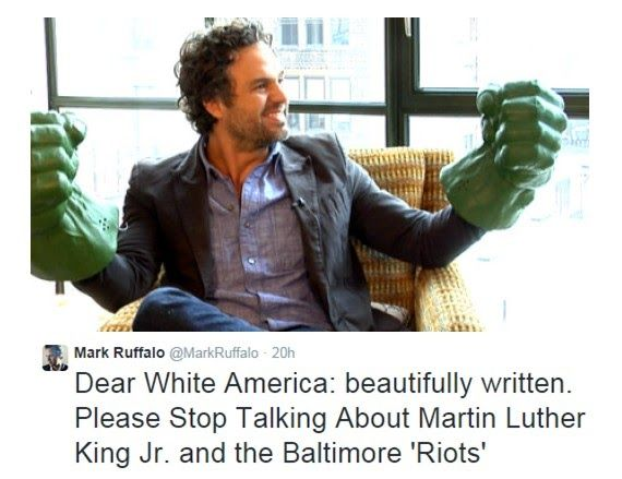 The District of Calamity: Mark Ruffalo--An Avenger to Check White Privilege?