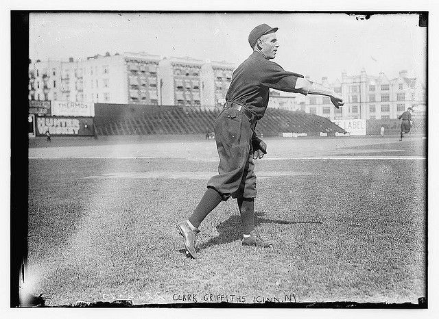 [Clark Griffith, Cincinnati, NL, 1909 at Hilltop Park, New York City (baseball)] (LOC) by The Library of Congress, via Flickr