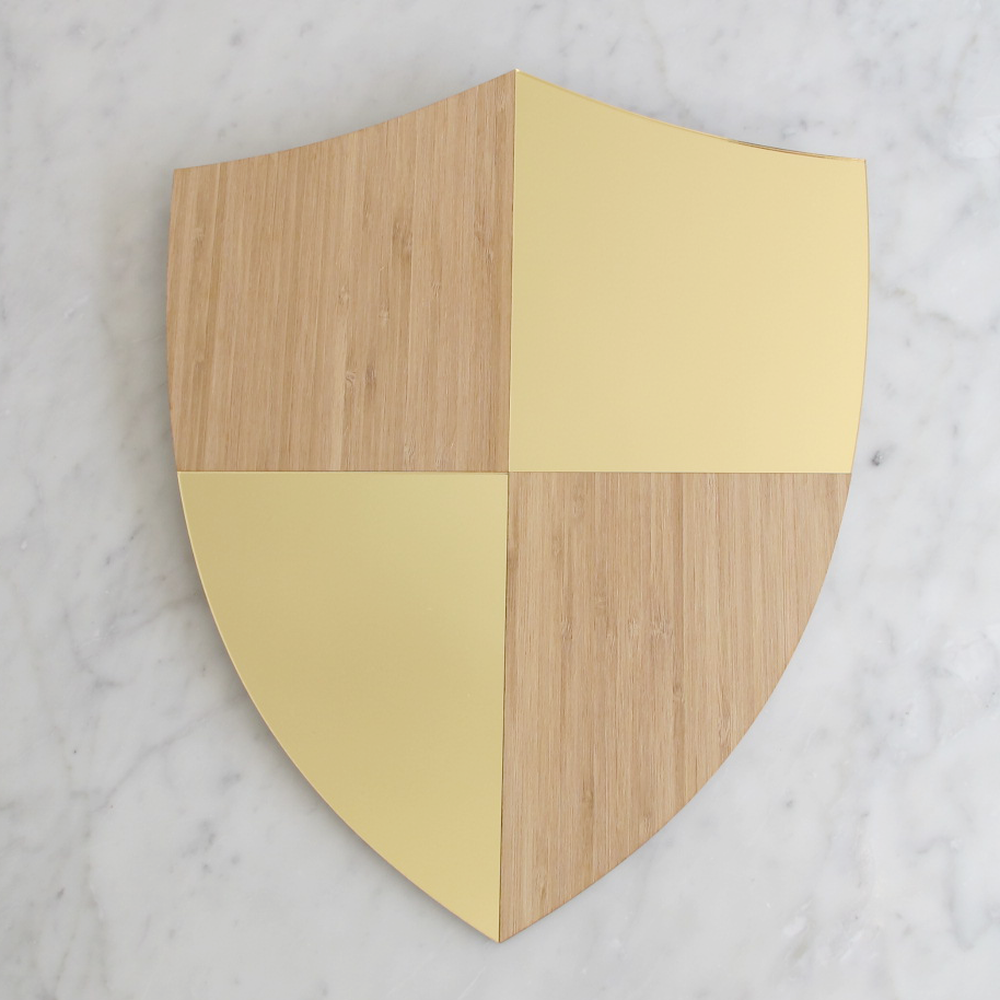 the creative muster   decorative wall shield with perspex mirror ...