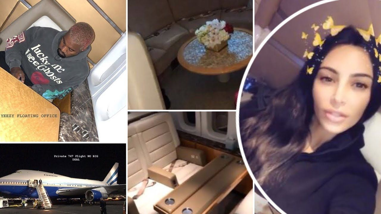 Lux Life Kim Kardashian And Kanye West Gives Tour Of Private Boeing 747