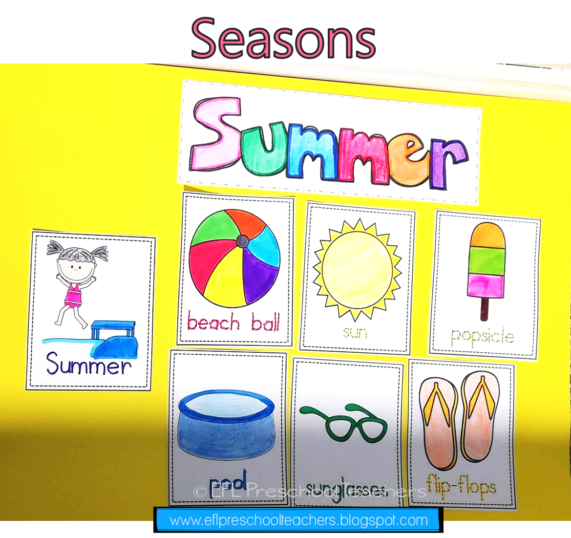Seasons Unit Worksheets For Preschool Esl In