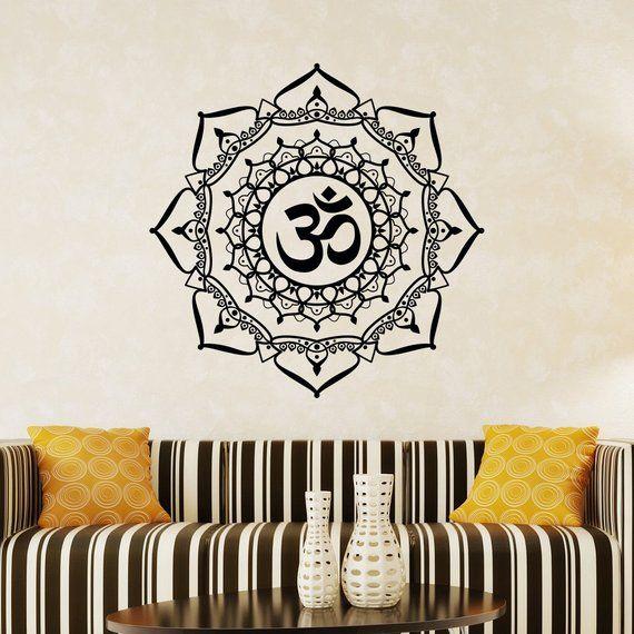 Mandala Wall Decal Namaste Decals Vinyl Sticker Indian Home Decor