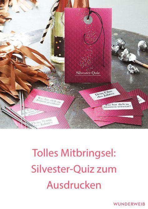 Tolles Mitbringsel: Silvester-Quiz zum Ausdrucken | Wunderweib