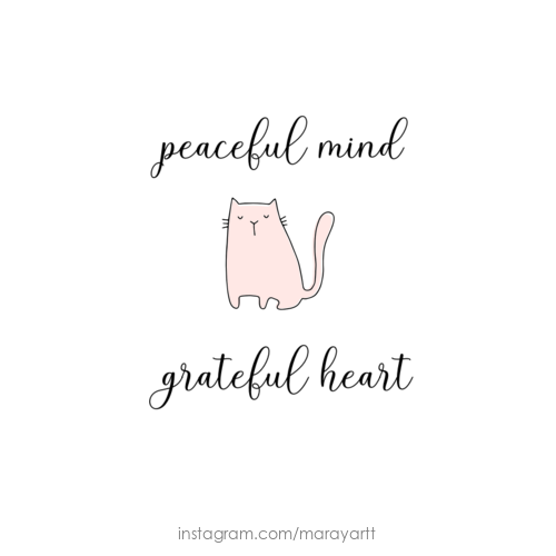 Peaceful Mind Grateful Heart Quote Quotes