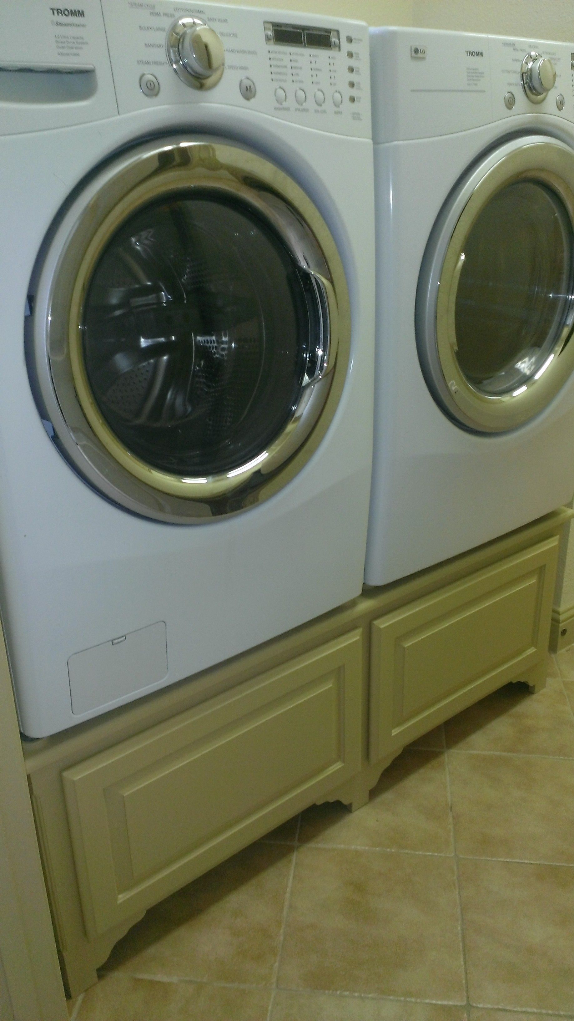 How to Build a Washer and Dryer Pedestal Laundry rooms Laundry