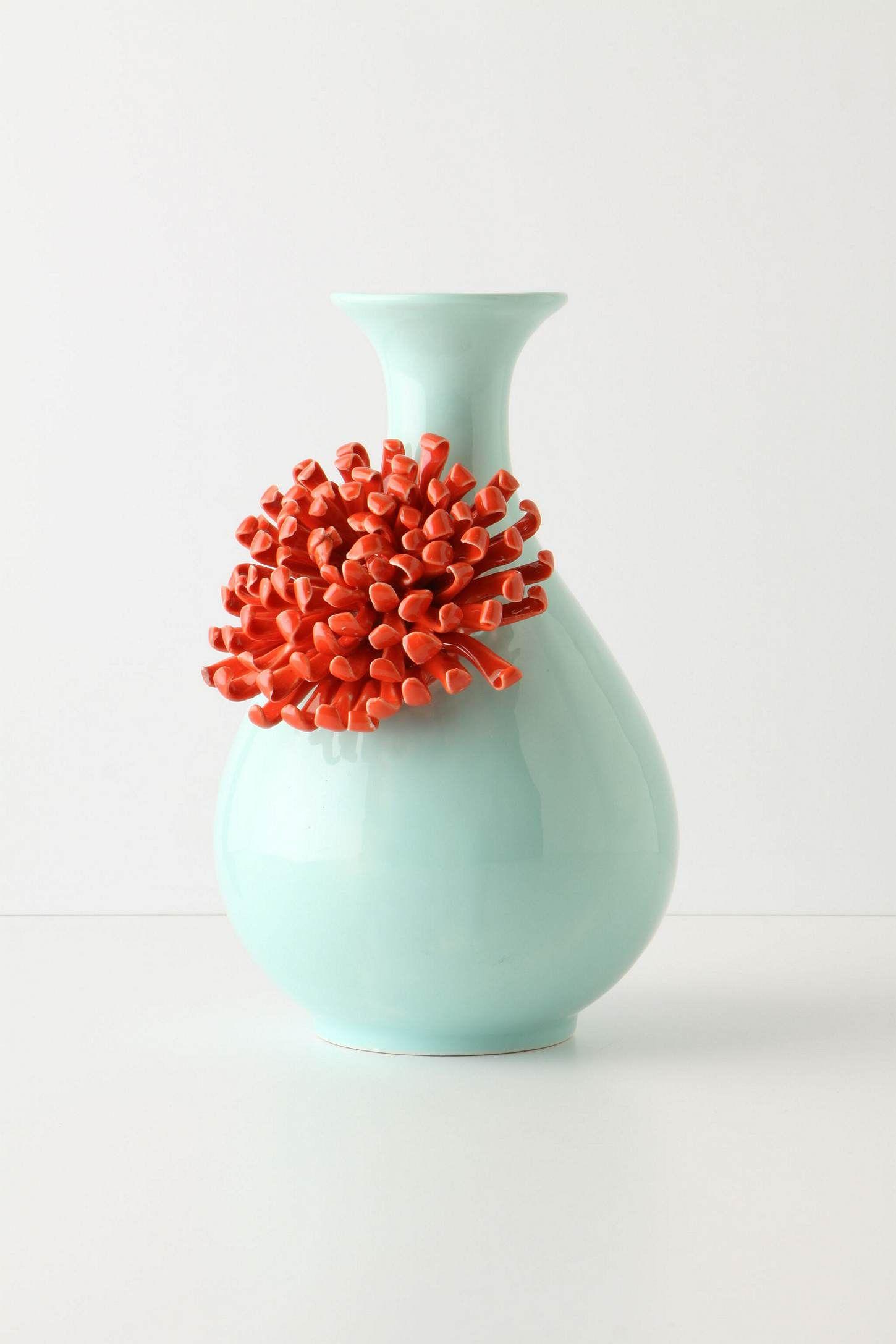 Jarrón verde agua y coral | Casa / Home | Pinterest | Cerámica, Lo ...