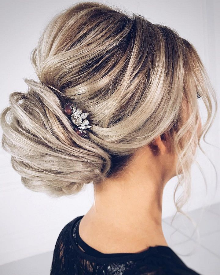 Wedding Hairstyle Upstyle: Chic Wedding Updo For Straight Hair To Inspire You