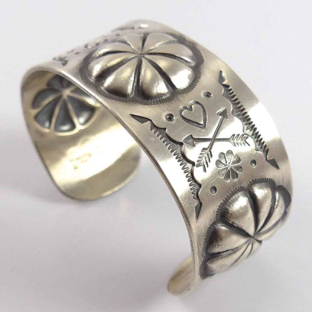 Stamped Silver Cuff | Metal smithing jewelry | Sterling silver cuff