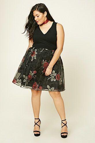 Plus Size Floral Mesh Dress Plus Size Pinterest Shops Plus